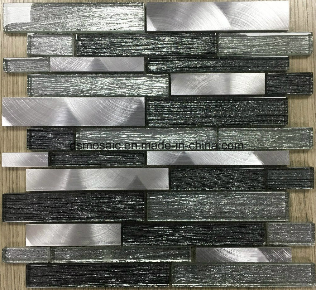 New Laminated Stripe Shape Glass Mosaic Tile
