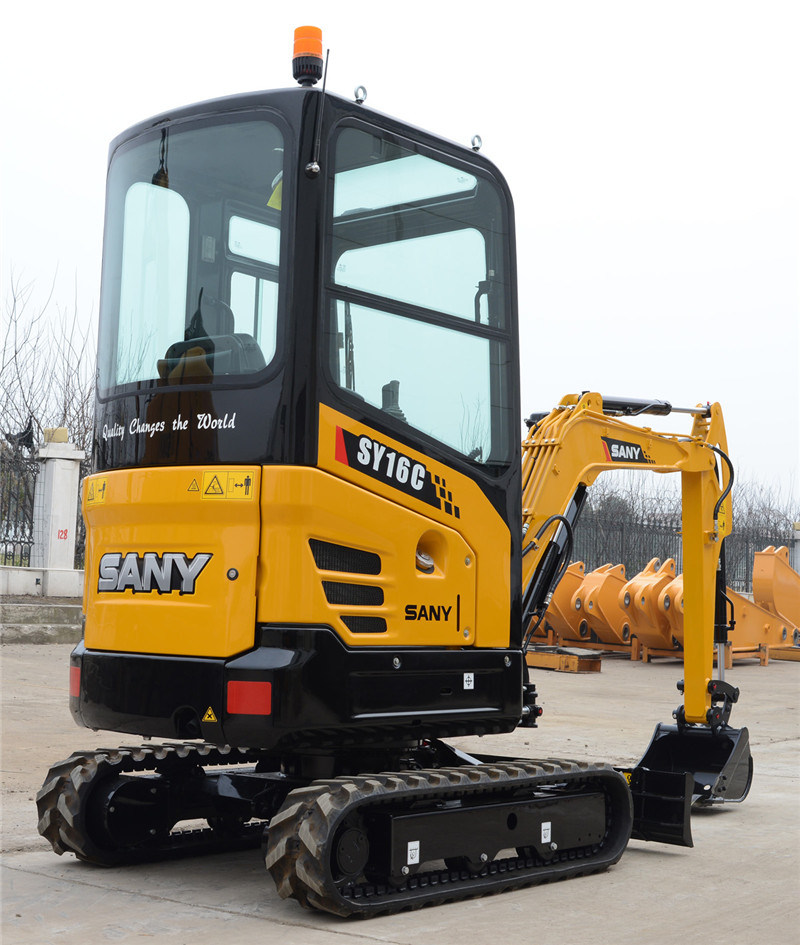 Sany Sy16c 1.6 Ton Tree Planting Hole Digger Mini Crawler Excavator