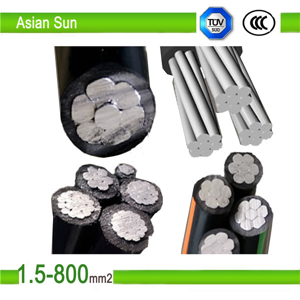 Aerial Bundled Cable 0.6/1 Kv XLPE Insulated Overhead Line ABC Cable