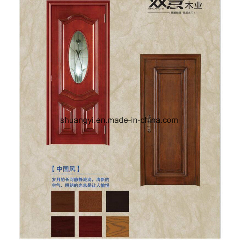 Wooden Interior Fir Panel Laminated Doors with Frames