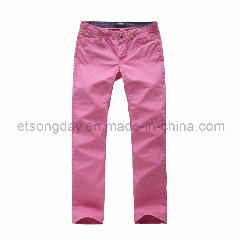 Fashion Red Cotton Spandex Men′s Trousers (JGY-1301)