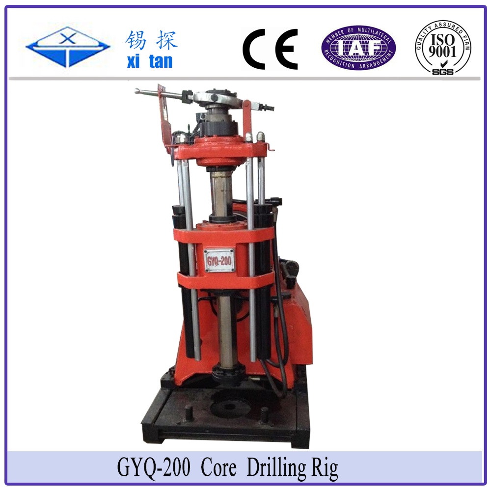 Xitan Gyq200 Core Drilling Rig Soil Investigation Drilling Machine Spt Mining Drill