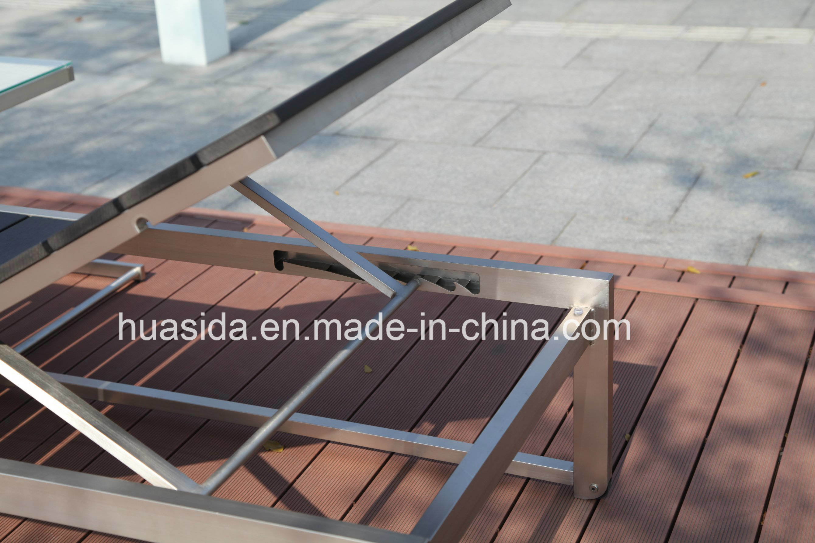 Stainless Steel Poly Wood Lounger Using in Beach Garden Swmming Pool