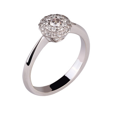 18k White Gold Diamond Ring for Women (109-26) - China Diamond Rings