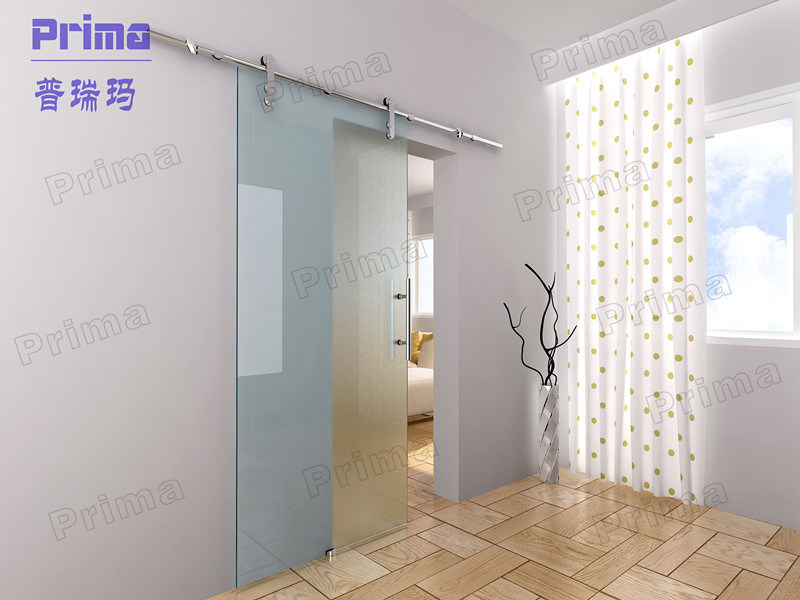 Tempered Clear Glass Interior Sliding Barn Doors