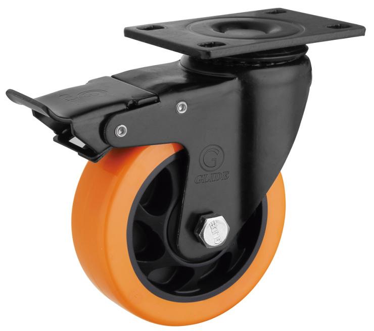 Medium Duty PU Caster Wheel (Orange) (G3206E)