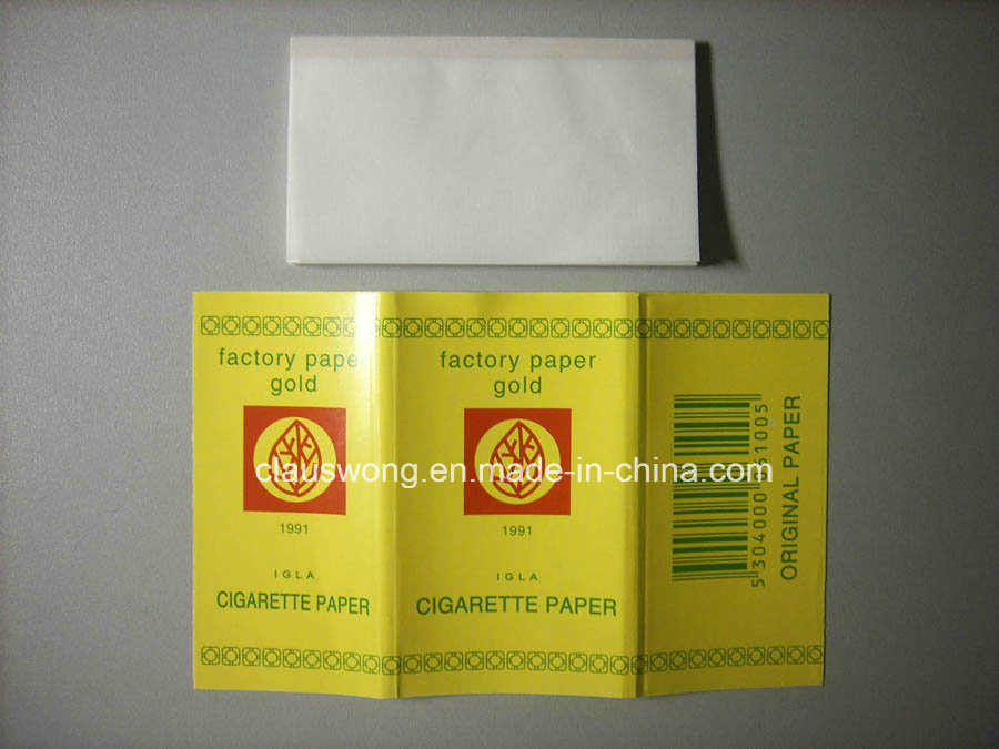 Gold Cigarette Paper Non Glue