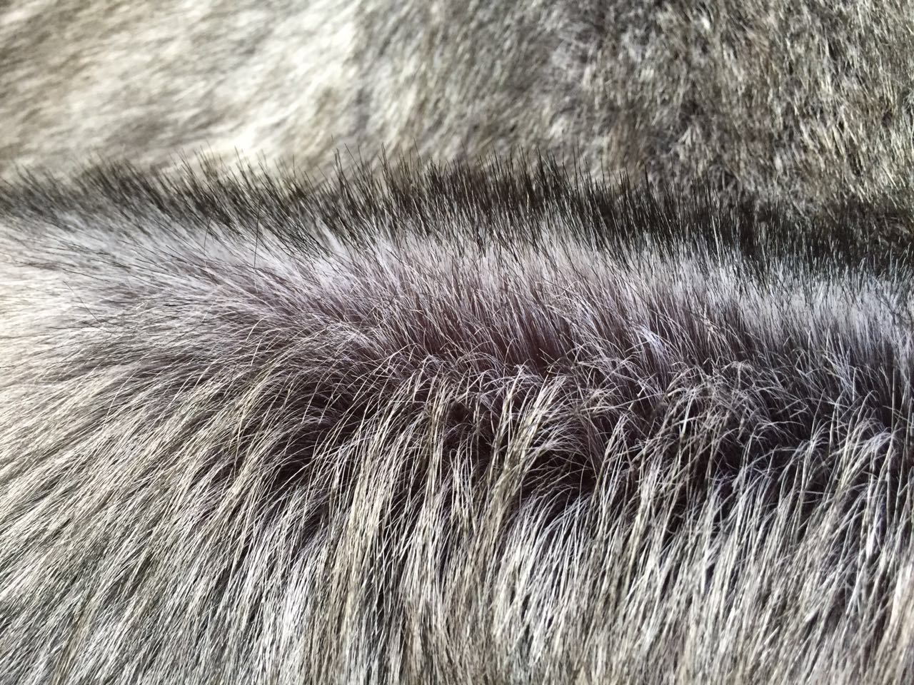 Long Pile Silve Fox Fake Fur