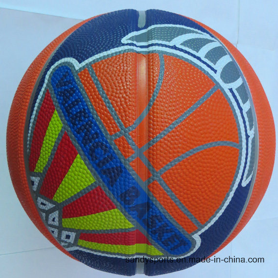 Durable Custom Sport Printing Rubber Ball Basketball