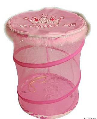 Pink Mesh Laundry Bag with Handles