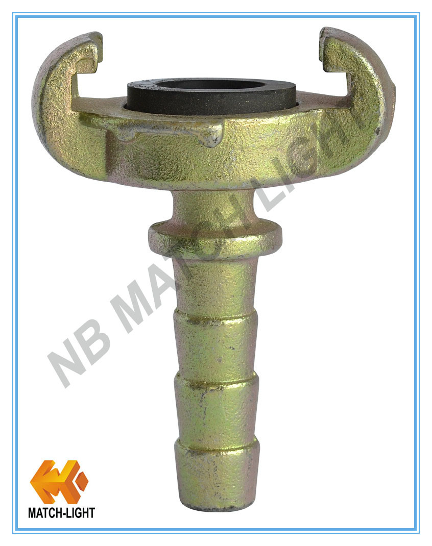 European Type Carbon Steel Air Hose Coupling (Hose End with Collar)