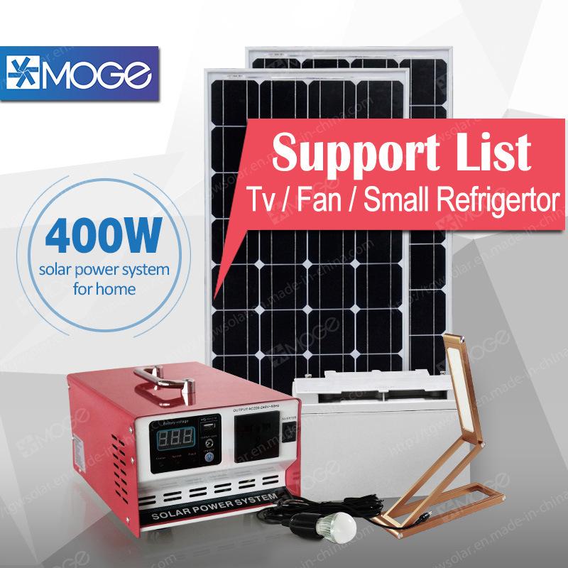 PV Solar Panels for Energy System 400W 600W Inverter