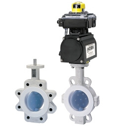 Actuator Operated Teflon PTFE Lined Butterfly Valve for Chemical Industry