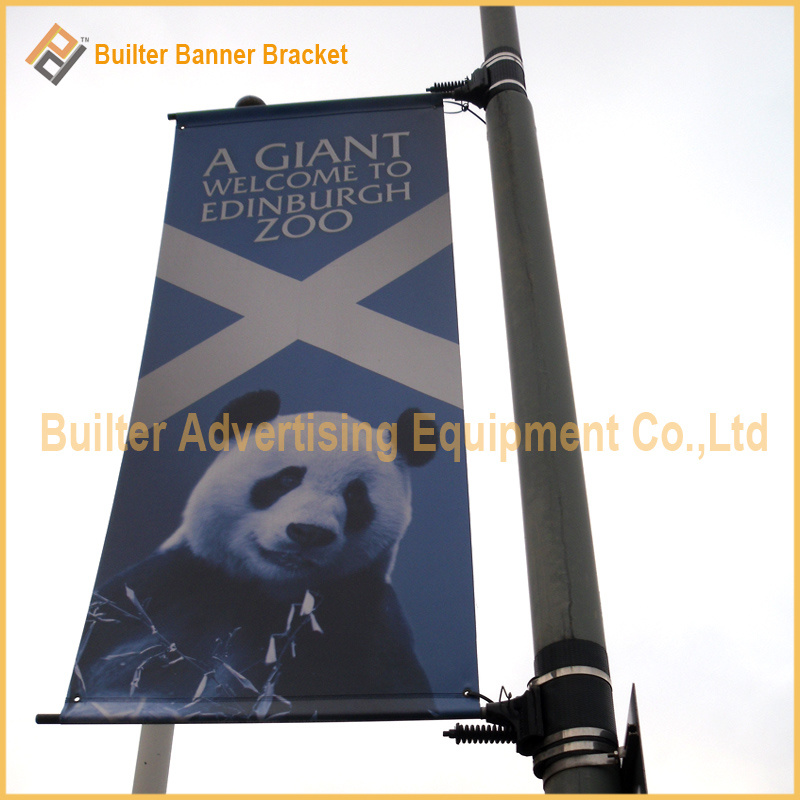 Metal Street Light Pole Advertising Sign Base (BT-BS-052)