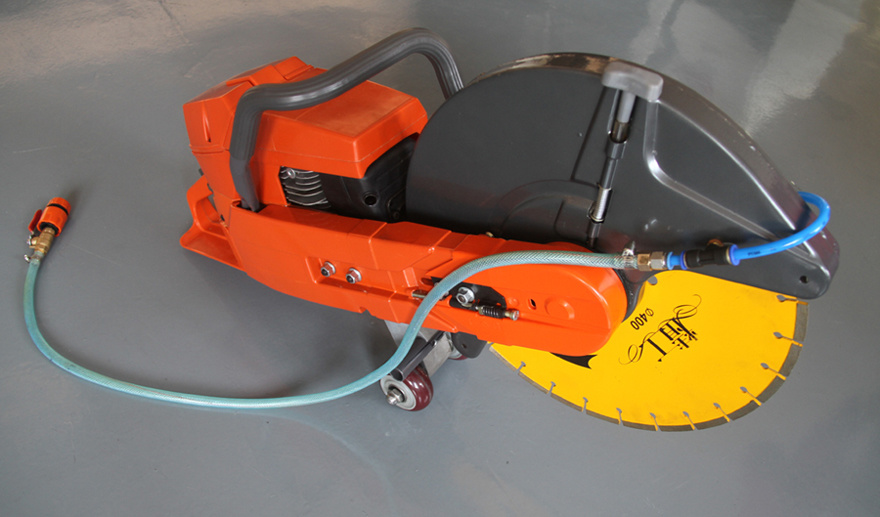 Eh272 Cut off Saw with Wheels and Hose