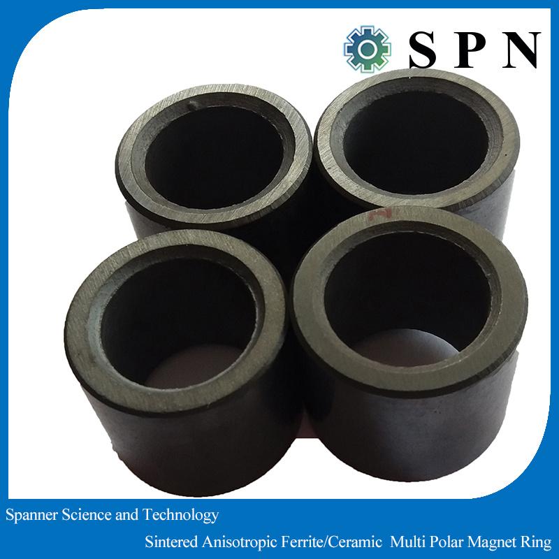 Ferrite Permanent Magnet Multipole Rings for Stepping Motor
