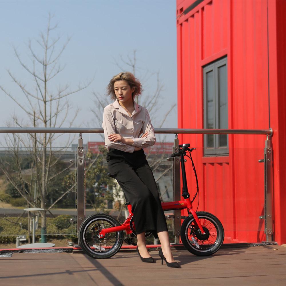 36V Lithium Battery Electric Bike 16 Inch Intelligent Folding Ebike