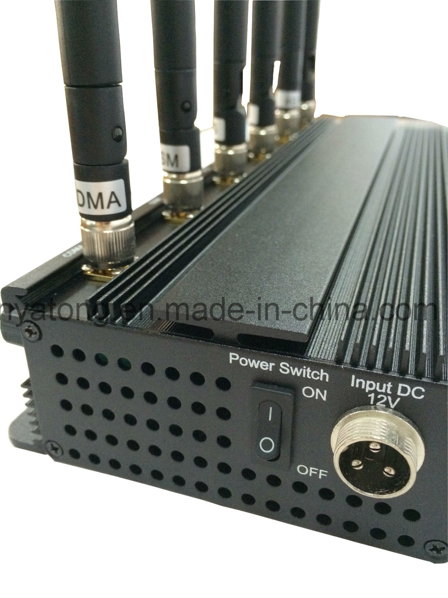 Adjustable 15W 3G/4G Cellphone Jammer with 6 Powerful Antenna
