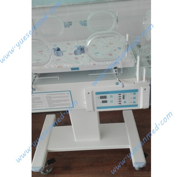 Ysbb-100s Hospital Top Sale LED Display Mobile Baby Incubator Incubator