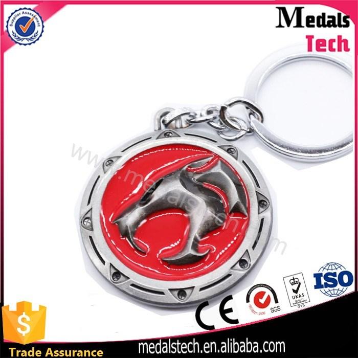 Colorful Metal Shiny Nickel Plated Metal Souvenir Hard Enamel Keychain