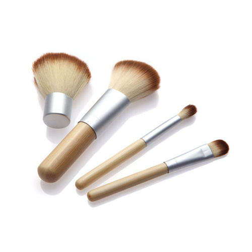 4PCS Makeup Brushes Kit with Bamboo Handle