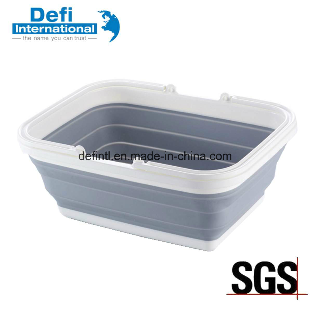 Foldable Plastic Hand Basket for Kitchen