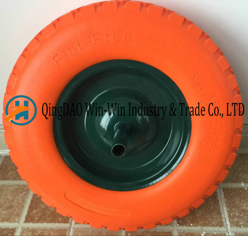 480/400-8 Solid Flat Free PU Foam Wheel