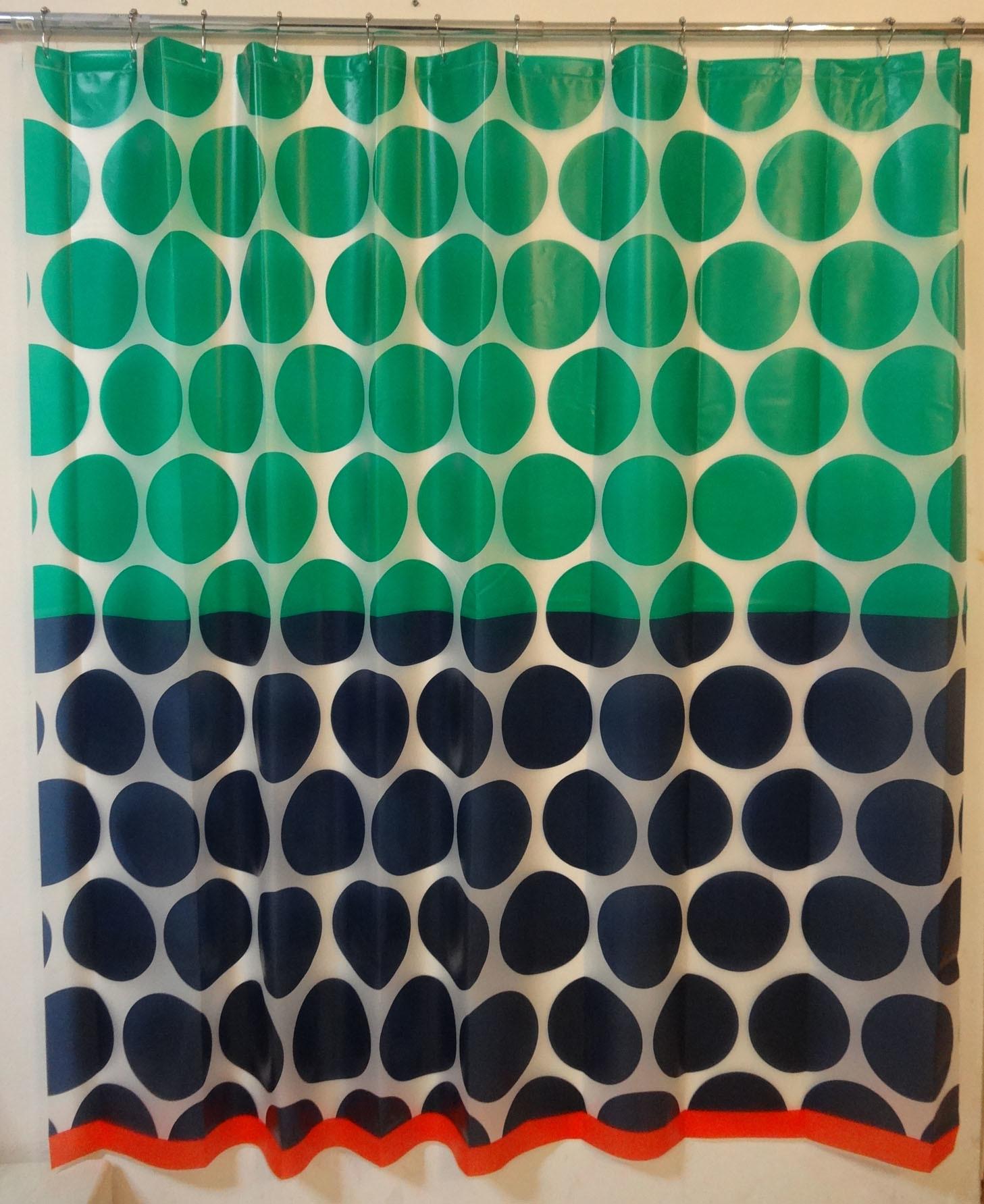 Multi-Dots Eco-Friendly Soft Hand Feel EVA Shower Curtain