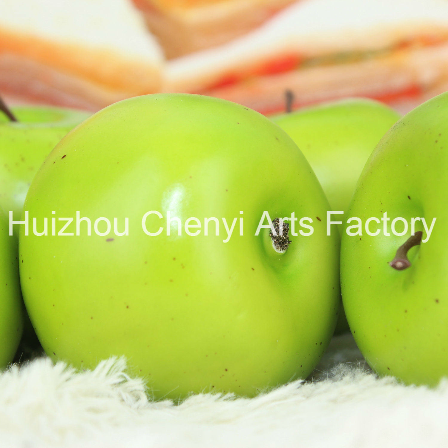 75mm Green Apple Artificial Fruit