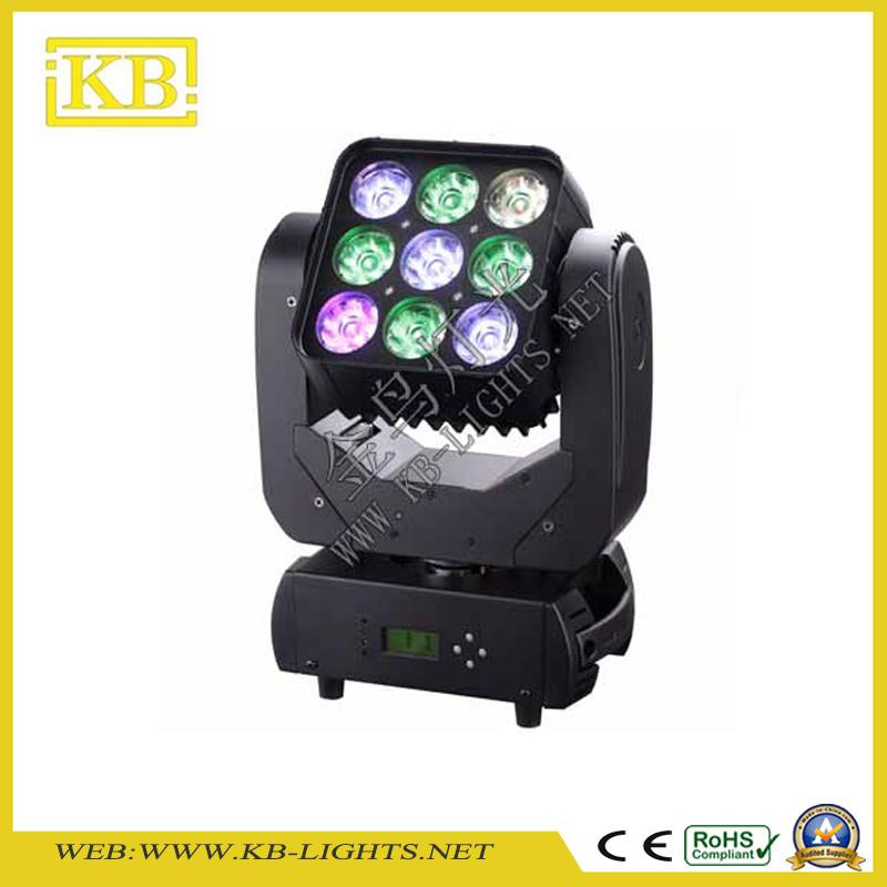 9PCS LED Moving Head Matrix Light RGB