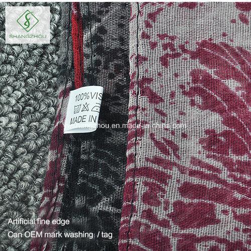Maple Leaves Printed Canada Design Shawl Fashion Lady Scarf
