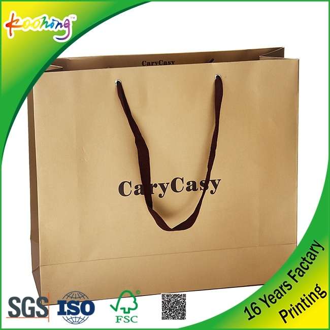 Customized Printing Logo Gold Gift Cloth Shopping Bag