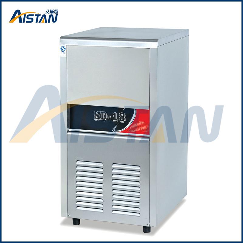 R134A Refrigerant Zanussi Compressor Free Standing Ice Making Machine