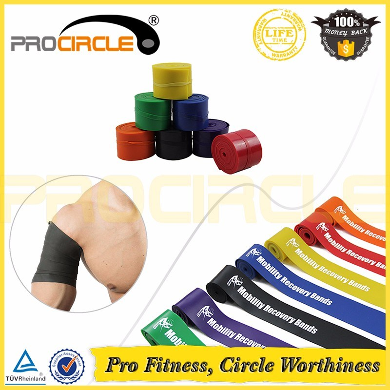 Crossfit Fitness Yoga Latex Rubber Resistance Band Roll (PC-RB1013-1016)