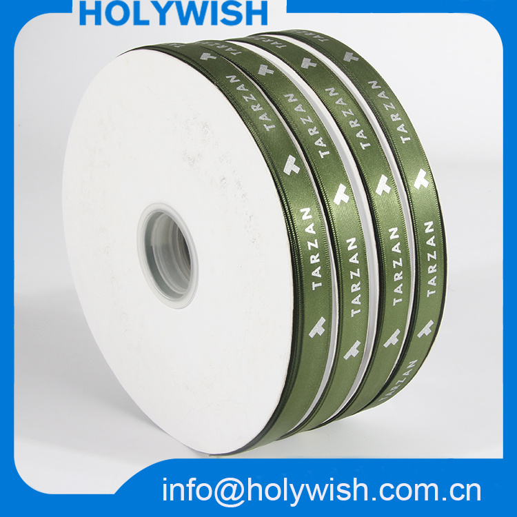 Custom Christmas Printed Grosgrain Band Webbing Polyester Satin Ribbon