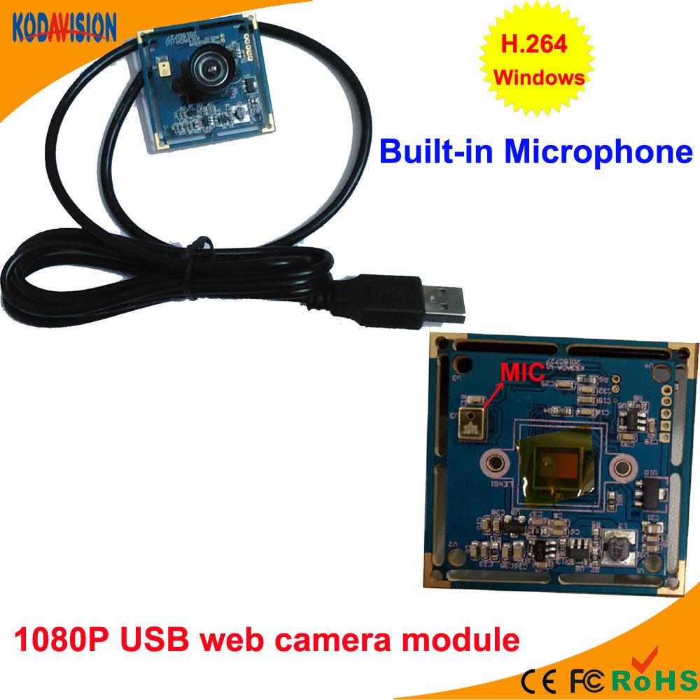2.0 Megapixel 1080P Board PC USB Web Camera