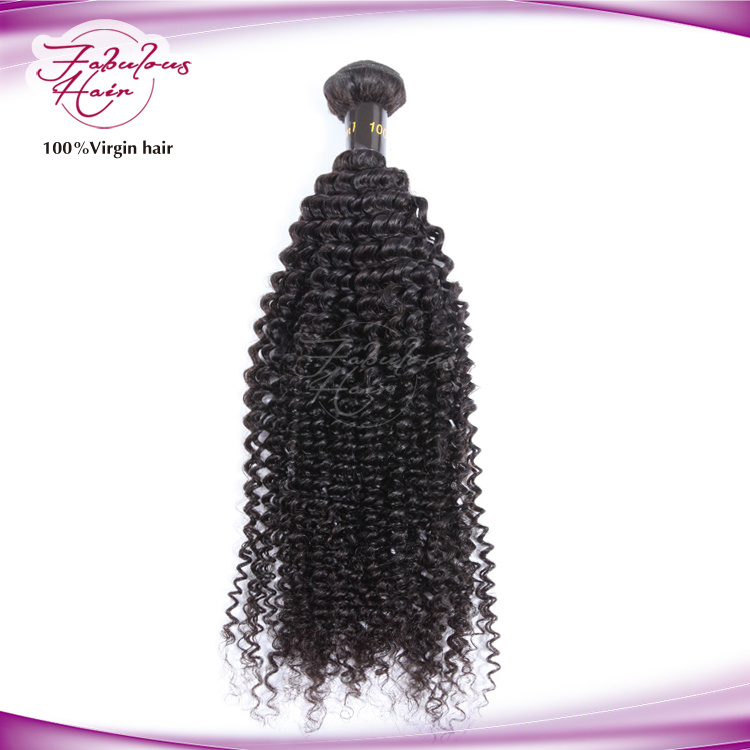 100% Human Hair Kinky Curly Virgin Brazilian Hair Weaving
