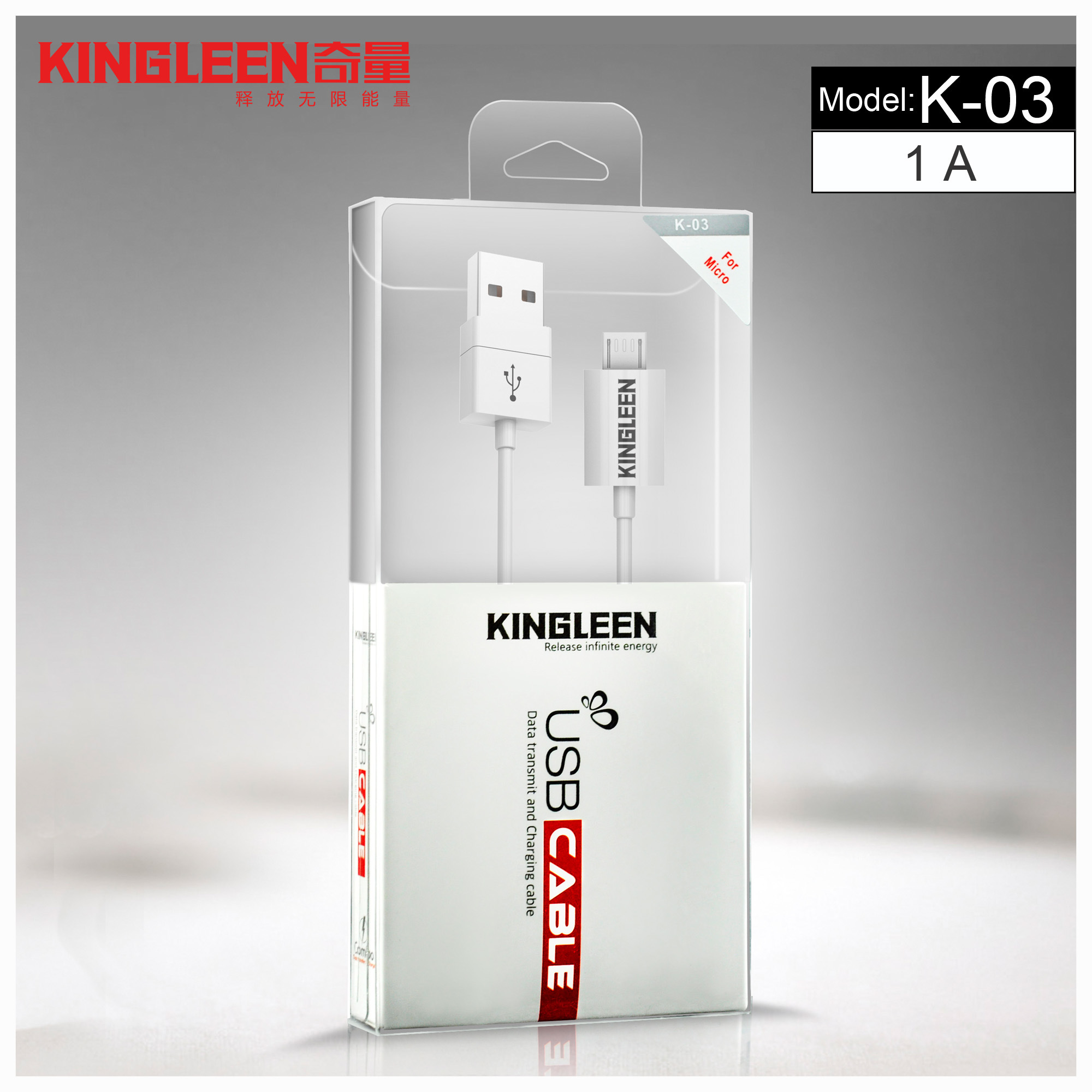 Kingleen Model K-03 Micro USB Data Cable 1.2m   for Samsung/HTC