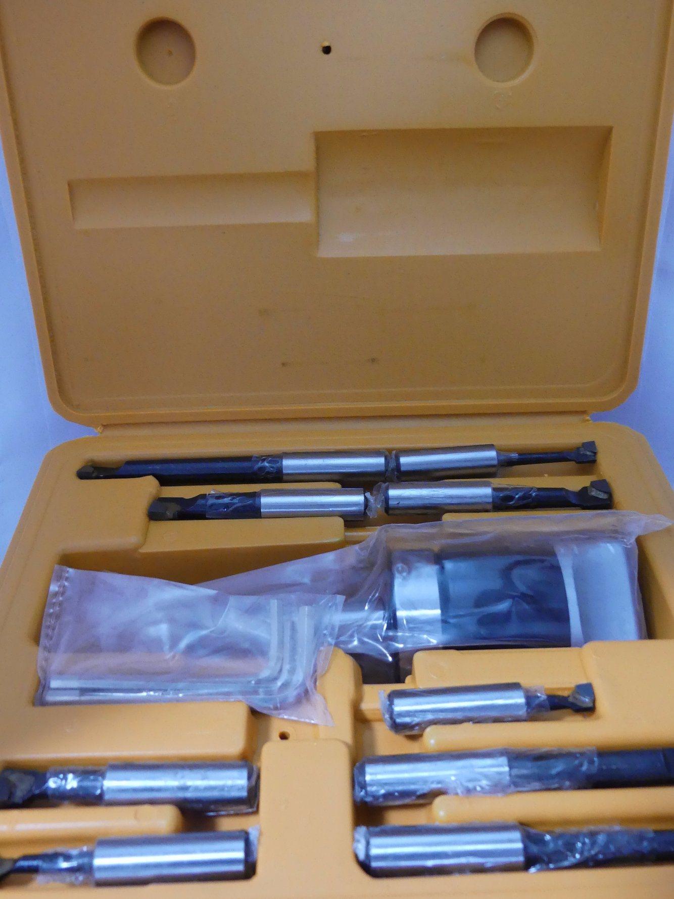 Cutoutil Boring Head F1-50mm Set Boring Bar Head with Shank Mt3 for CNC Machine Boring Head Set