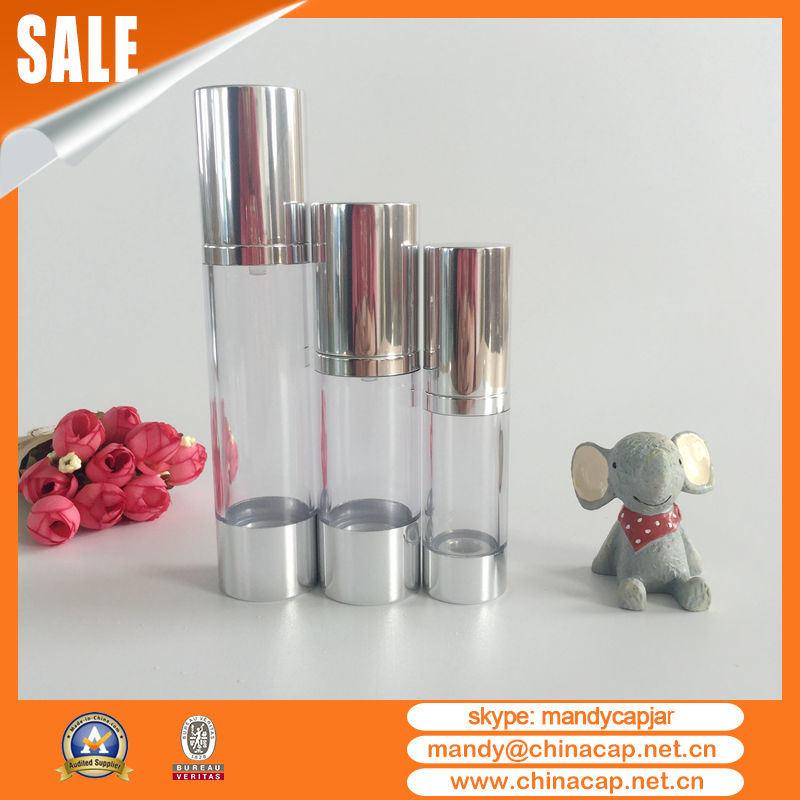 15g 30g 50g Matte Silver Airless Bottle Vacuum Pump Bottles