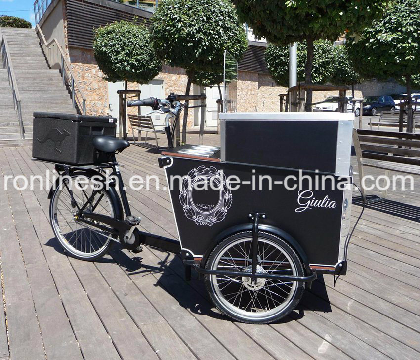 250W/350W/500W Electric or Pedal 3 Wheel Cargo Bike/Cargo Trike/Cargo Tricycle/Ice Cream Roll Tricycle/Cargo Bicycle/Icecream Roll Delivery Bike