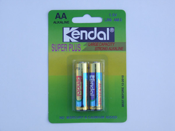 Card Package AA Size Lr6 Alkaline Battery