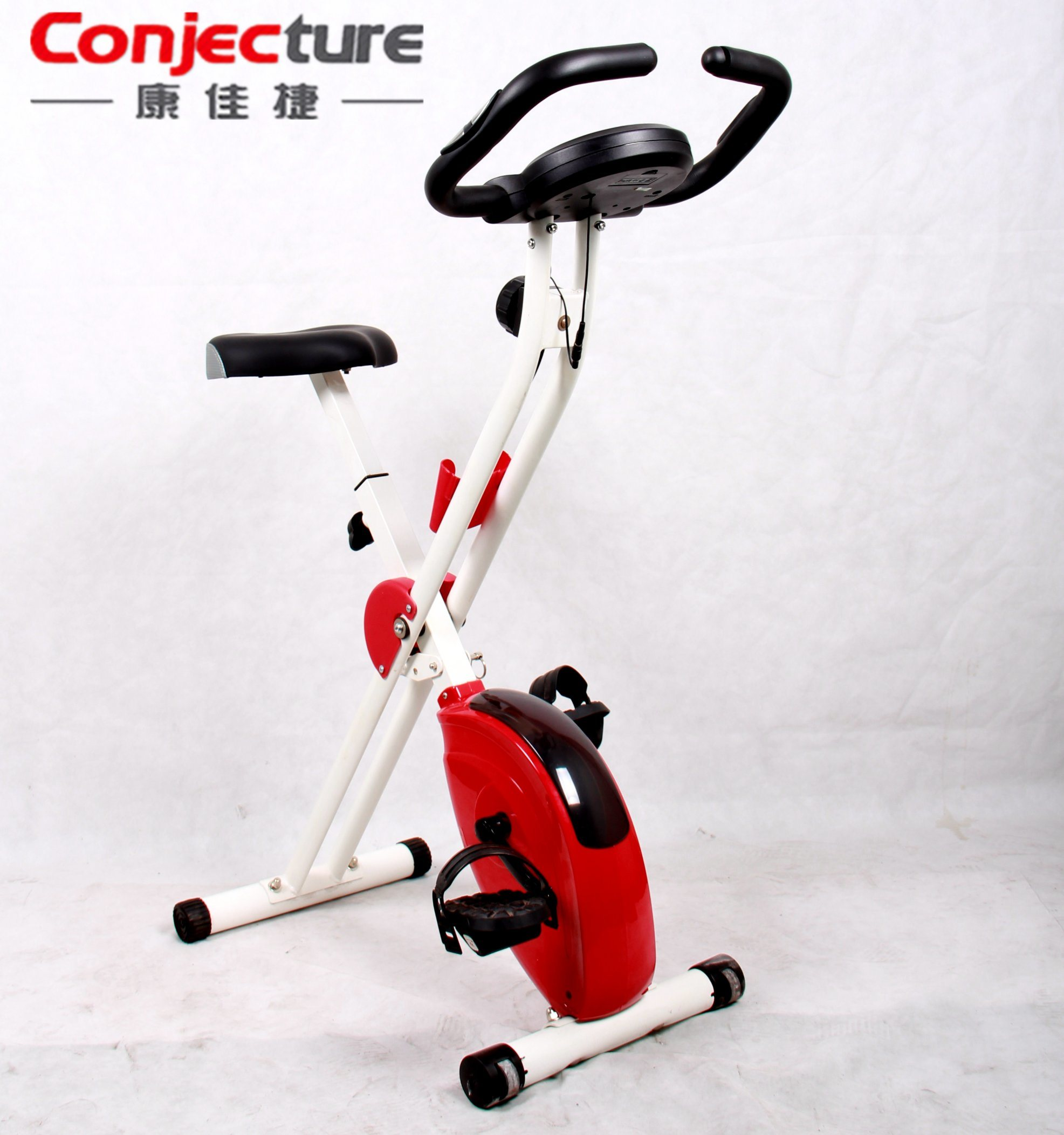 Upright Folding Comfortable Seat Compact Storage Fold up Magnetic Exercise Bike