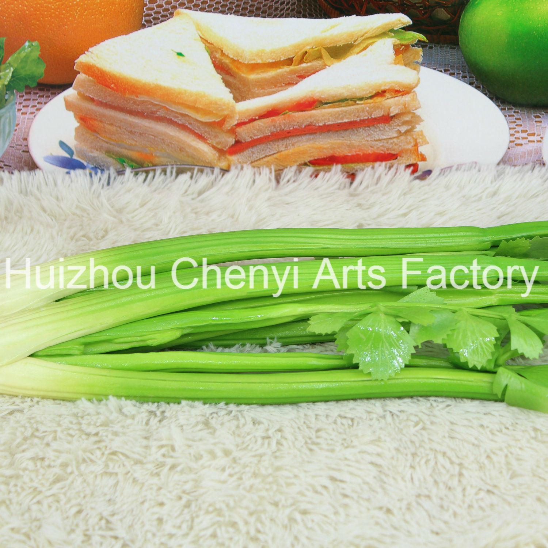 PU Green Celery Artificial Vegetables