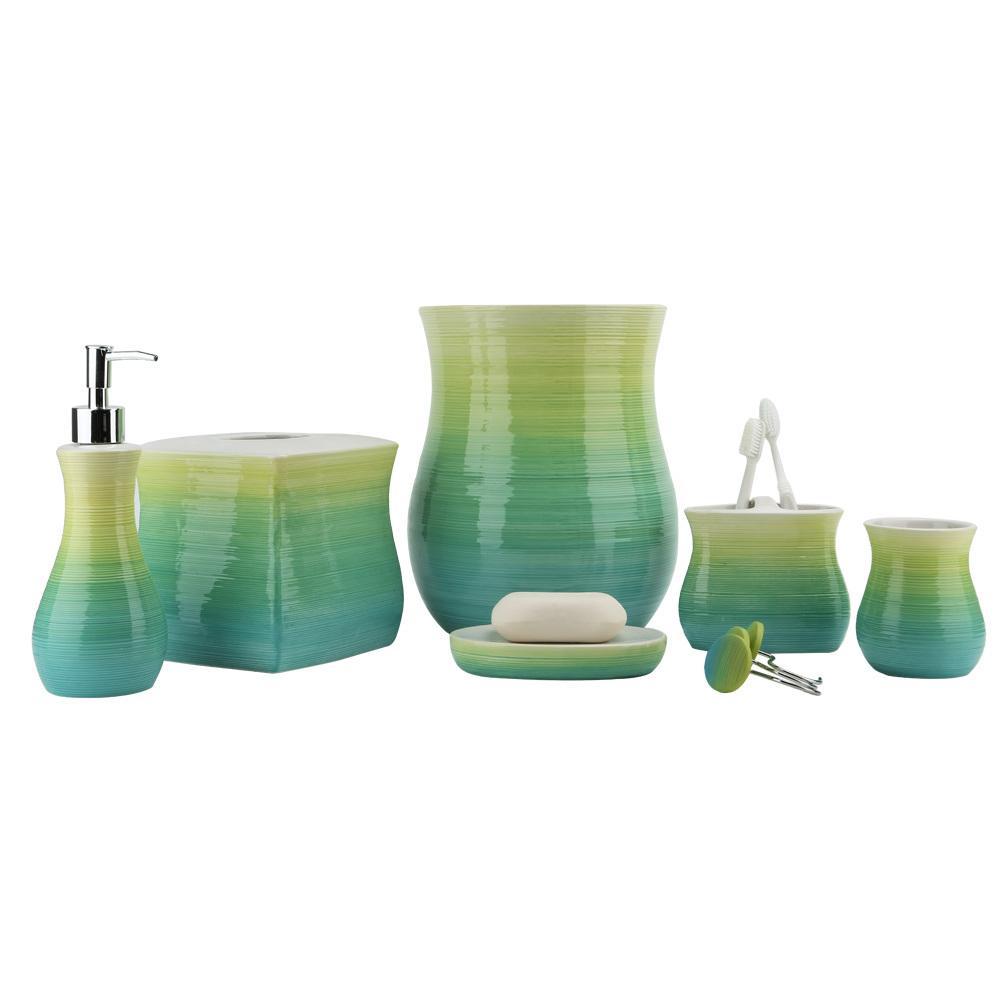 Corrine Gradient Hand Paint Ceramic Bathroom Accessory / Bath Accessory / Bathroom Set