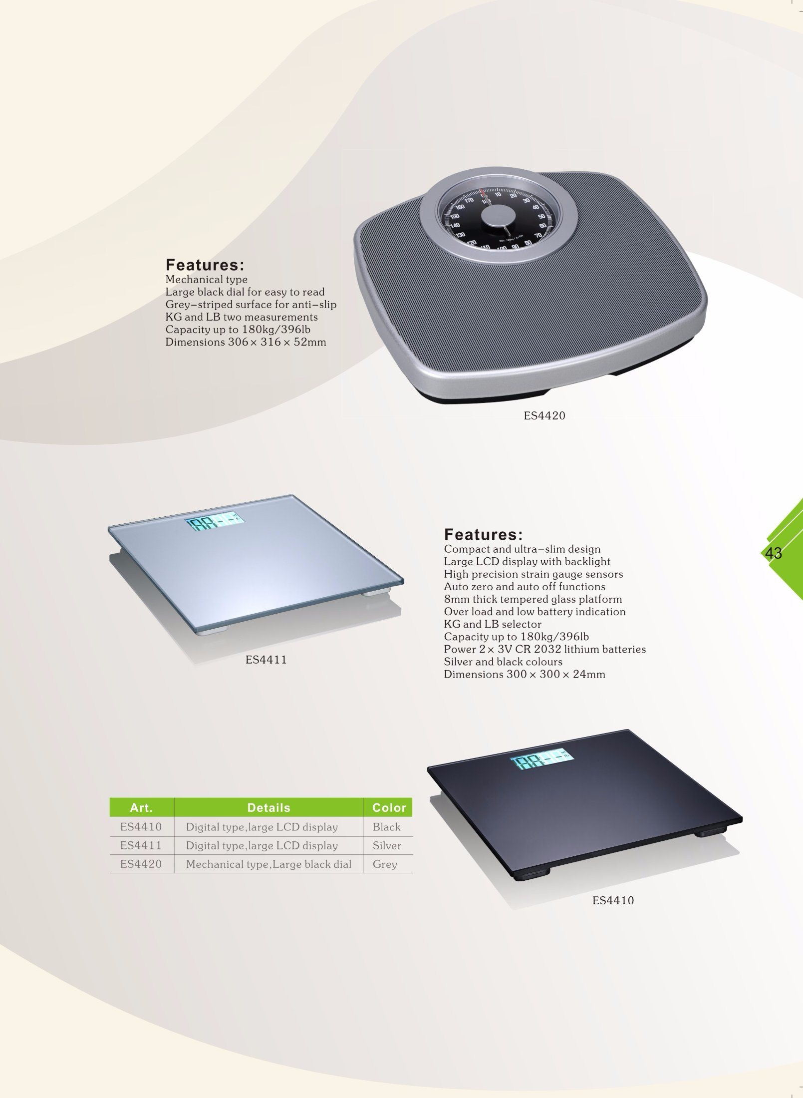 Anti-Slip and Easy to Read Mechanical Weighing Scale