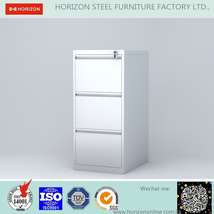 3 Vertical Drawers Documents Cabinet with for A4/F4 File