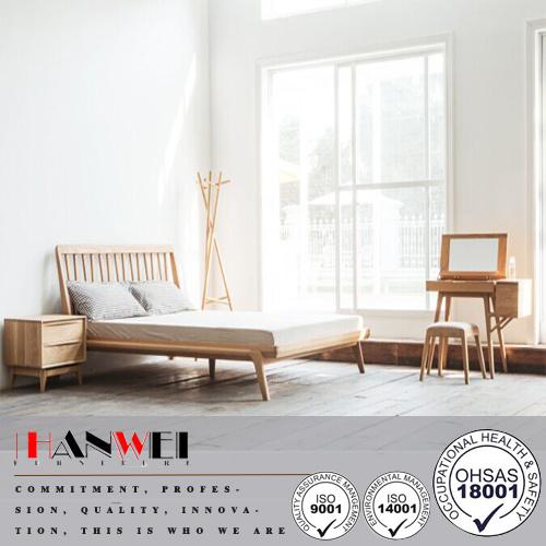 American Oak Home Bedroom Set Modern Wooden Bedroom Living Room Furniture