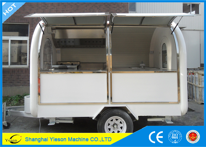 Ys-Fb200b Roomy! 2m Wide High Quality Fast Food Trailer Fast Food Cart Seafood Trailer