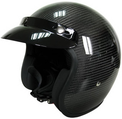 Newest Half- Face Motorcycle Helmet with Fiberglass Shell, High Quality Cheap Price, DOT Approved